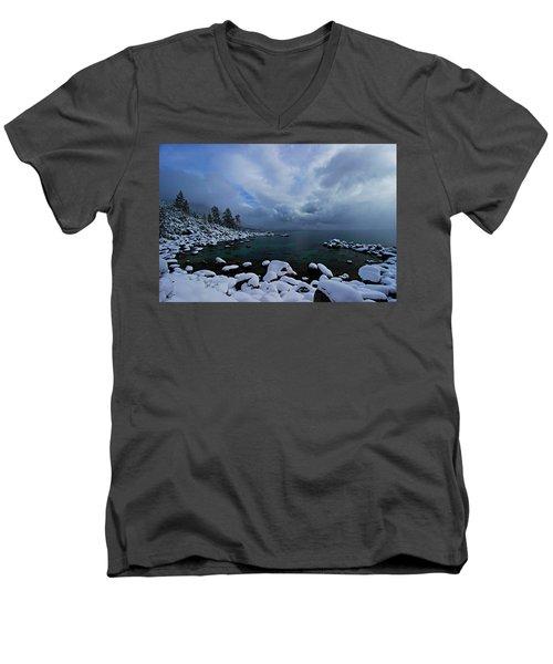 Lake Tahoe Snow Day Men's V-Neck T-Shirt