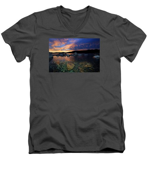 Lake Tahoe Sundown Men's V-Neck T-Shirt