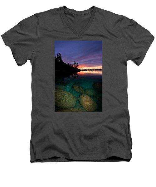 Lake Tahoe Sunset Portrait Men's V-Neck T-Shirt