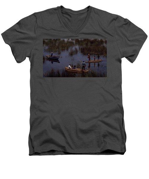 Lake Titicaca Reed Boats Men's V-Neck T-Shirt