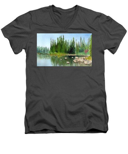 Lake View 1 Men's V-Neck T-Shirt