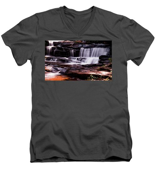 Lake Waterfall Men's V-Neck T-Shirt
