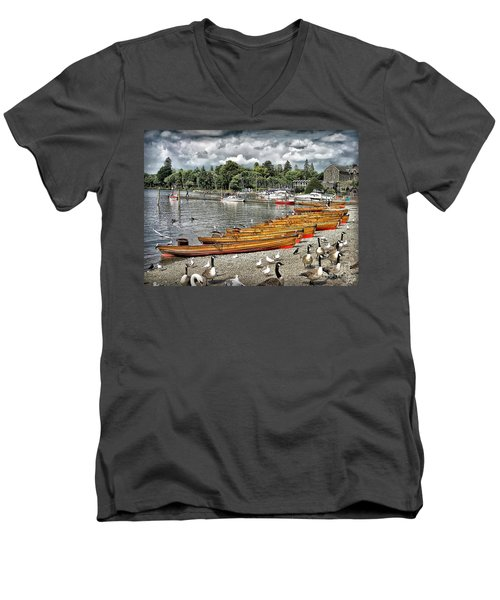 Men's V-Neck T-Shirt featuring the photograph Lake Windamere by Walt Foegelle
