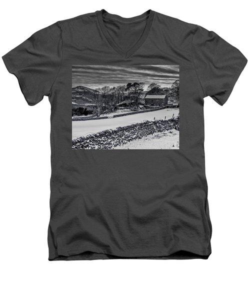 Lakeland Barn Men's V-Neck T-Shirt by Keith Elliott