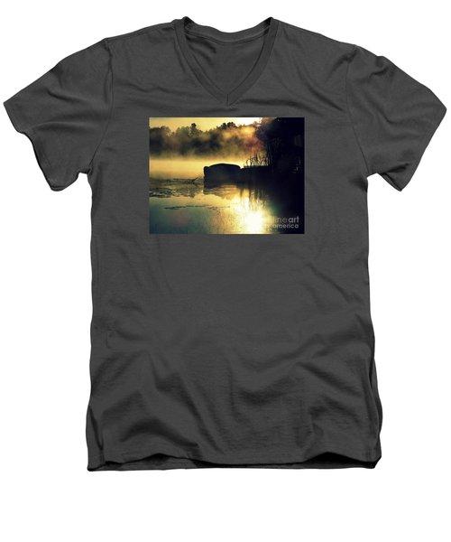 Lakeshore Men's V-Neck T-Shirt by France Laliberte