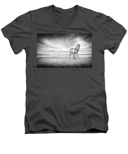 Lakeside Chair. Men's V-Neck T-Shirt