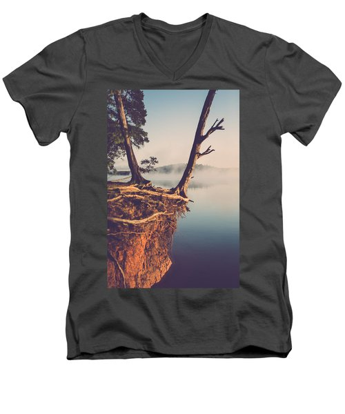 Lakeside Cliff Men's V-Neck T-Shirt