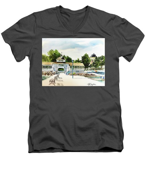 Lakeside Dock And Pavilion Men's V-Neck T-Shirt