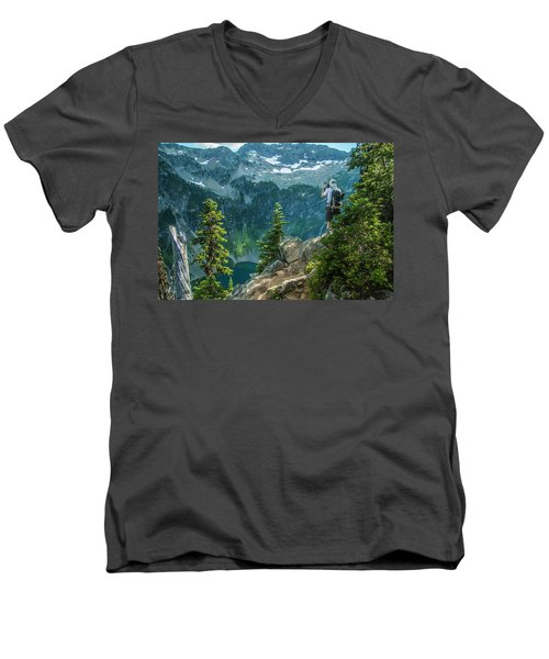 Lakeside View Men's V-Neck T-Shirt