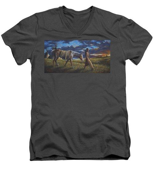 Lakota Sunrise Men's V-Neck T-Shirt