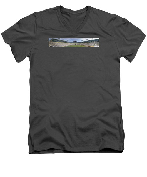 Men's V-Neck T-Shirt featuring the photograph Lambeau Field Staduim  by Ricky L Jones
