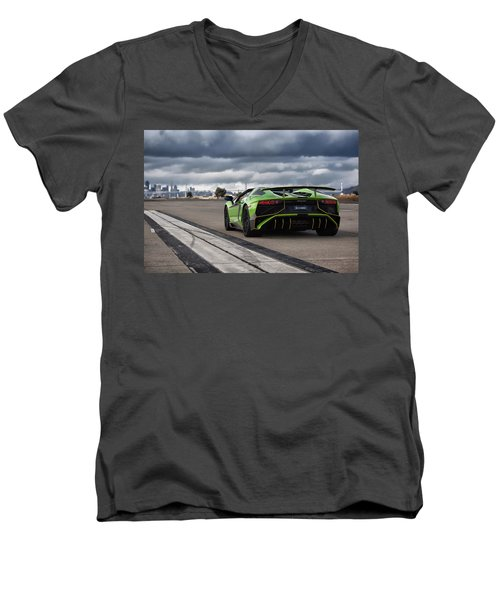 #lamborghini #aventadorsv #superveloce #roadster Men's V-Neck T-Shirt