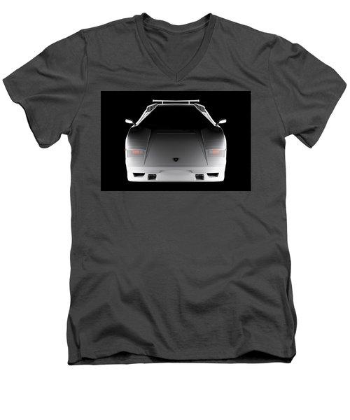 Lamborghini Countach 5000 Qv 25th Anniversary - Front View  Men's V-Neck T-Shirt