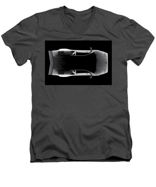 Lamborghini Countach 5000 Qv 25th Anniversary - Top View Men's V-Neck T-Shirt