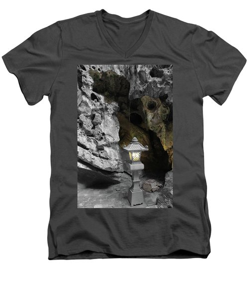 Lamp In Marble Mountain Men's V-Neck T-Shirt