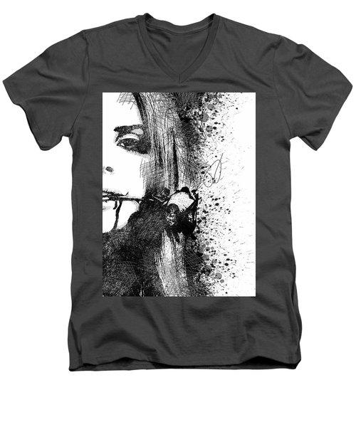 Lana Del Rey Half Face Portrait 2 Men's V-Neck T-Shirt