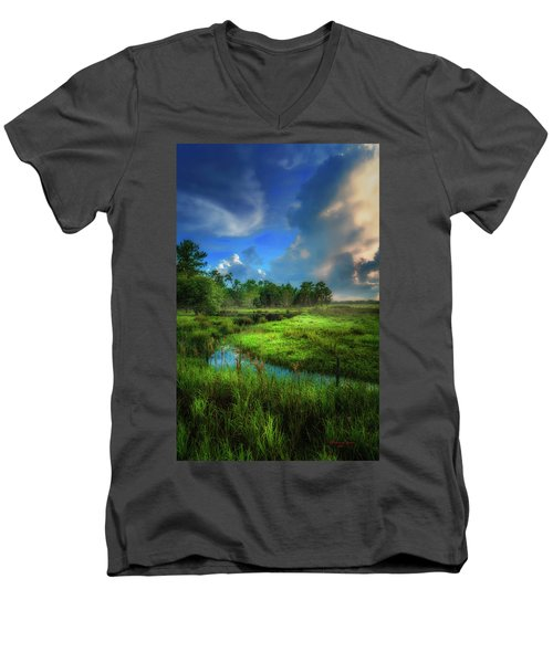 Men's V-Neck T-Shirt featuring the photograph Land Of Milk And Honey by Marvin Spates
