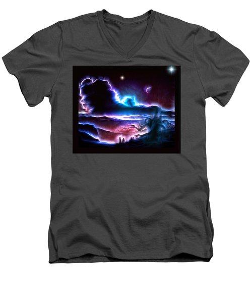 Land Of Nightmares Men's V-Neck T-Shirt