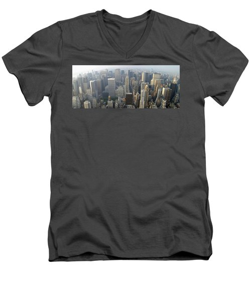 Land Of Skyscapers Men's V-Neck T-Shirt