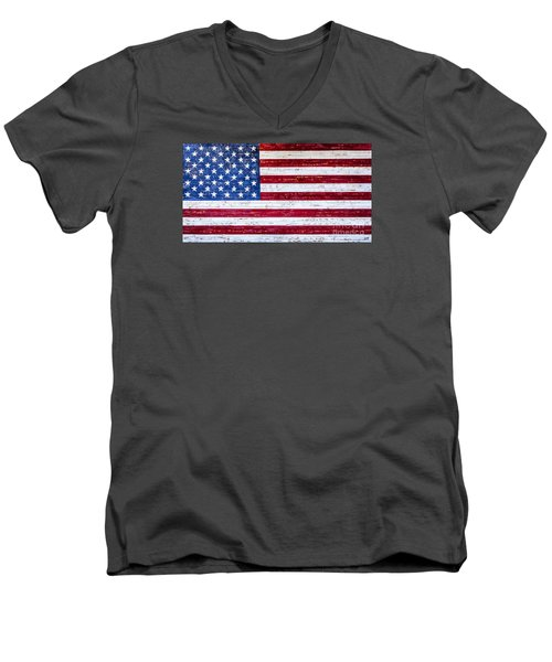Land Of The Free Men's V-Neck T-Shirt