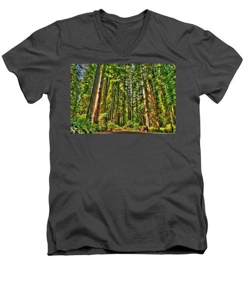 Land Of The Giants Men's V-Neck T-Shirt
