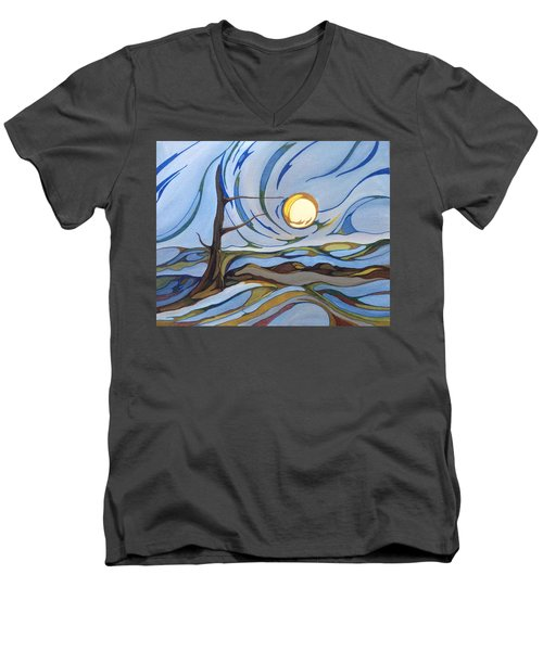 Land Of The Midnight Sun Men's V-Neck T-Shirt by Pat Purdy