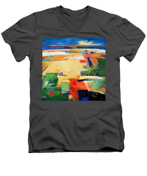 Landforms, You've Never Been Here Men's V-Neck T-Shirt by Gary Coleman