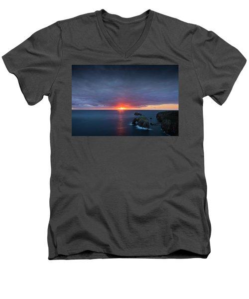 Land's End Men's V-Neck T-Shirt by Dominique Dubied