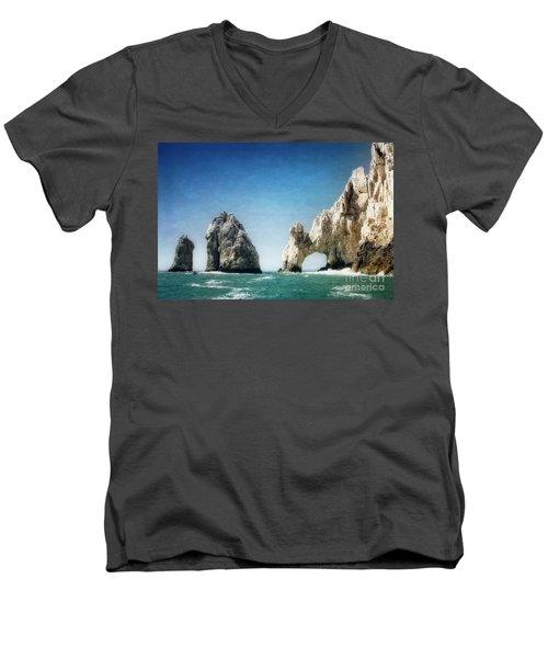 Lands End Men's V-Neck T-Shirt