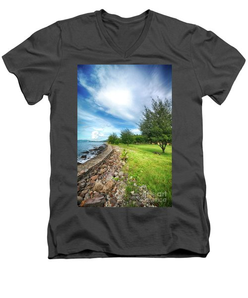 Men's V-Neck T-Shirt featuring the photograph Landscape 2 by Charuhas Images