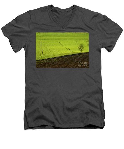 Landscape 4 Men's V-Neck T-Shirt