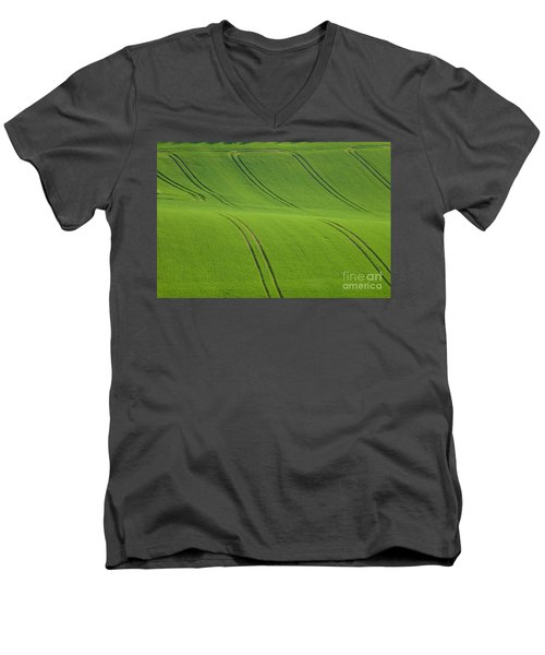 Landscape 5 Men's V-Neck T-Shirt