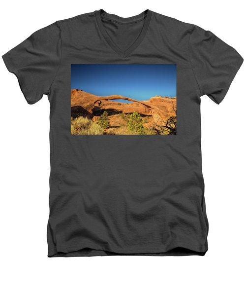 Landscape Arch Sunrise Men's V-Neck T-Shirt