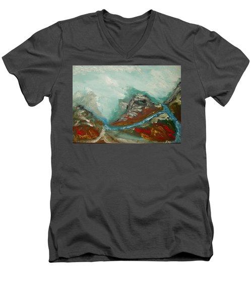 Landscape. Fantasy 19-2. Men's V-Neck T-Shirt
