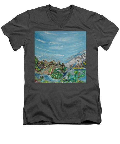 Landscape. Imagination. Men's V-Neck T-Shirt