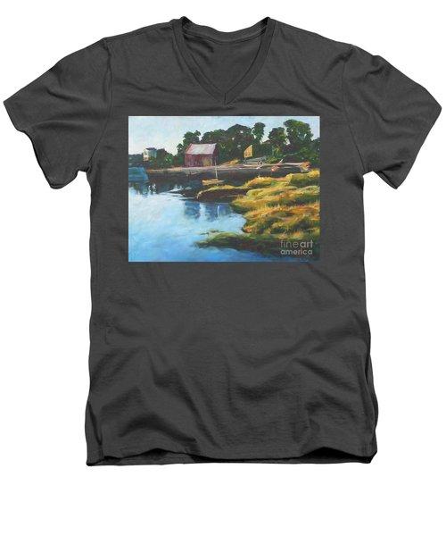 Lane's Cove Sunset Men's V-Neck T-Shirt