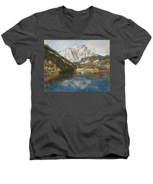 Langbathsee Austria Men's V-Neck T-Shirt by Alexandra Maria Ethlyn Cheshire