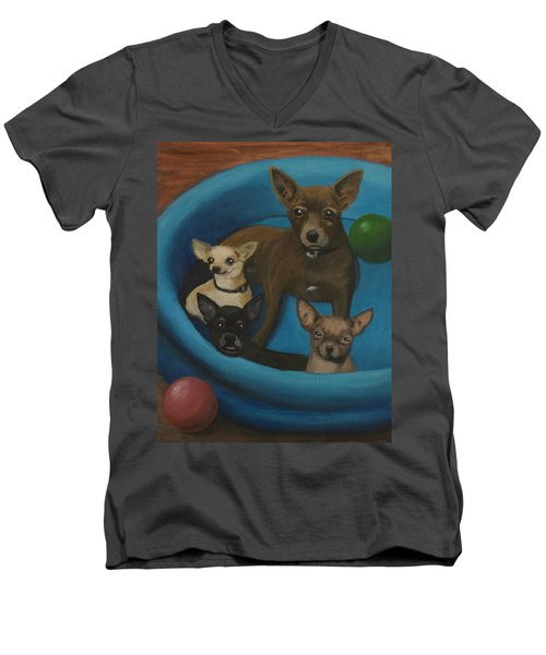 Lanice's Dogs Men's V-Neck T-Shirt