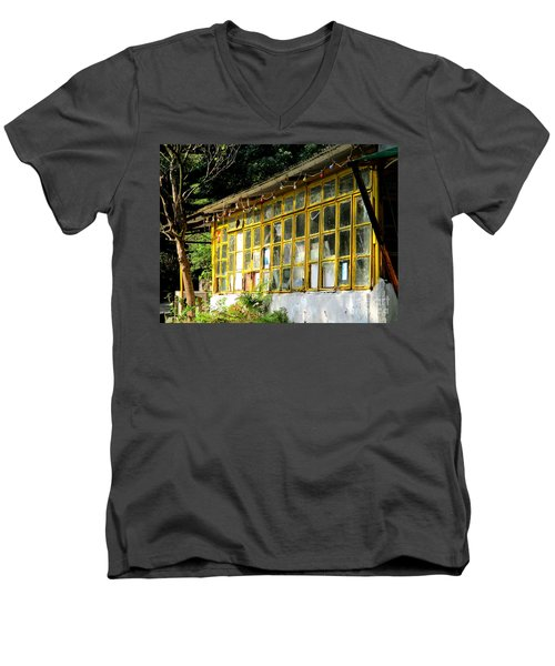 Men's V-Neck T-Shirt featuring the photograph Lantau Island 46 by Randall Weidner