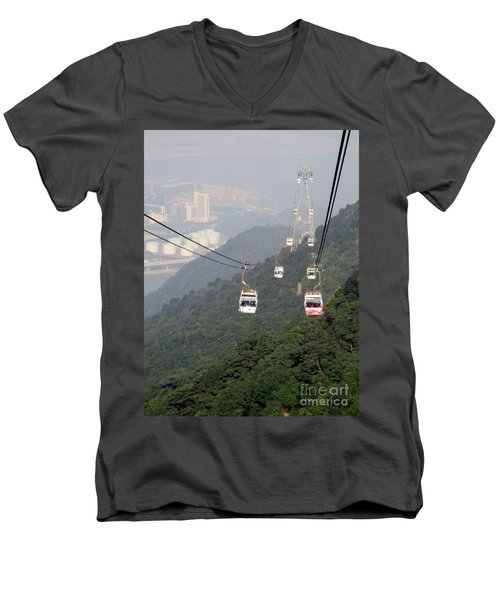Men's V-Neck T-Shirt featuring the photograph Lantau Island 53 by Randall Weidner