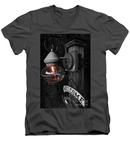 Men's V-Neck T-Shirt featuring the photograph Lantern by Brian Jones