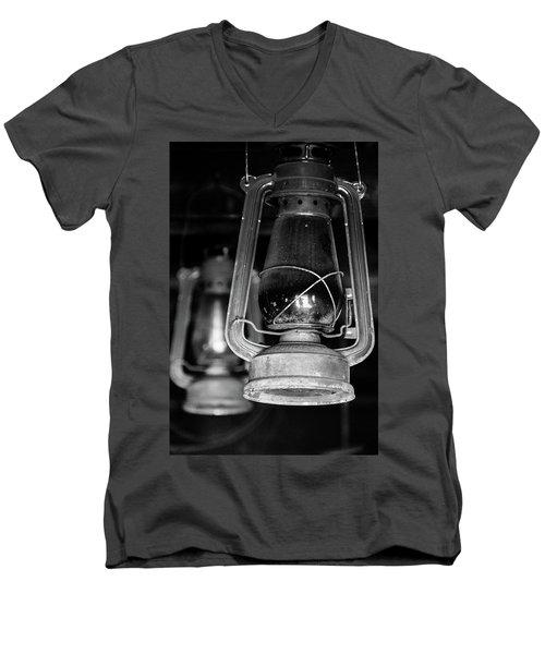 Lanterns Men's V-Neck T-Shirt by Jay Stockhaus