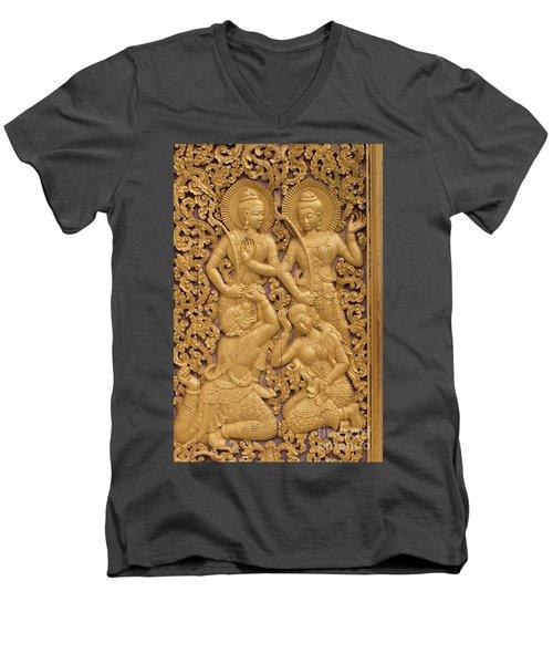 Men's V-Neck T-Shirt featuring the photograph Laos_d59 by Craig Lovell