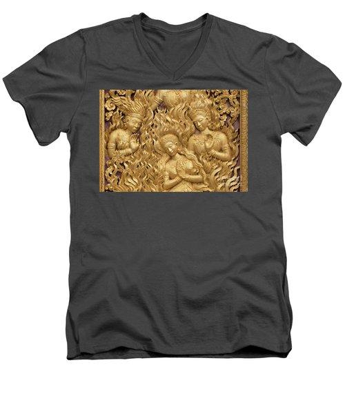 Laos_d60 Men's V-Neck T-Shirt by Craig Lovell