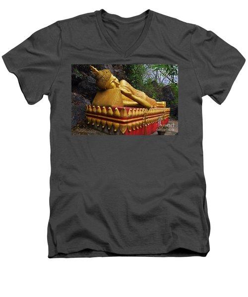 Laos_d602 Men's V-Neck T-Shirt