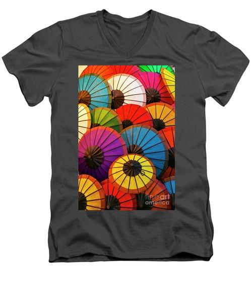 Laos_d639 Men's V-Neck T-Shirt