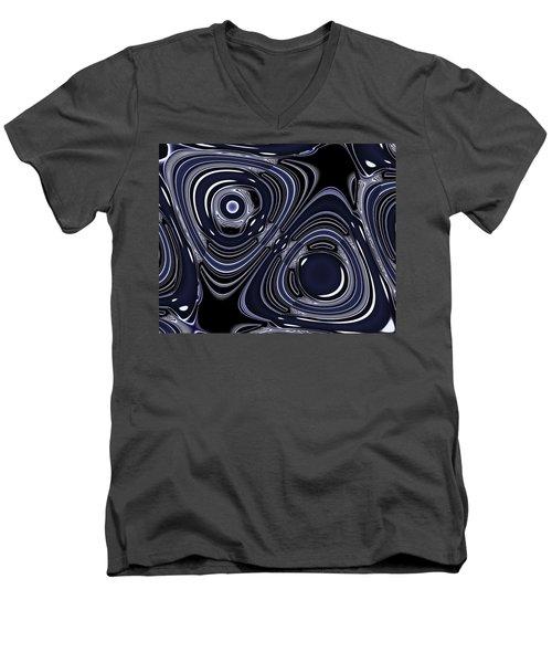 Lapis And Chrome Abstract Men's V-Neck T-Shirt
