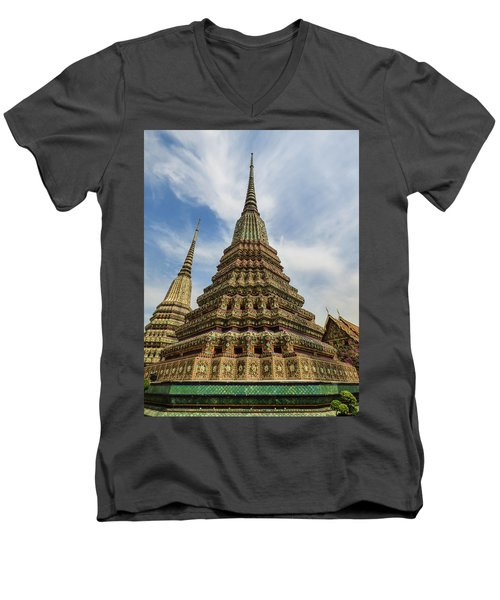 Large Colorful Stupa At Wat Pho Men's V-Neck T-Shirt