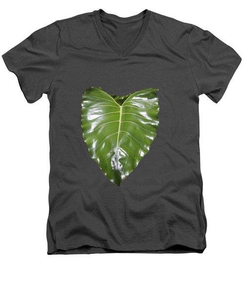 Large Leaf Transparency Men's V-Neck T-Shirt