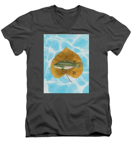 Large Mouth Bass #2 Men's V-Neck T-Shirt by Ralph Root